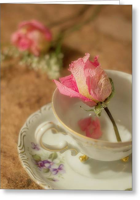 Tea And Roses Greeting Card