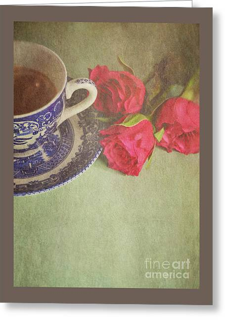 Tea And Roses Greeting Card by Lyn Randle
