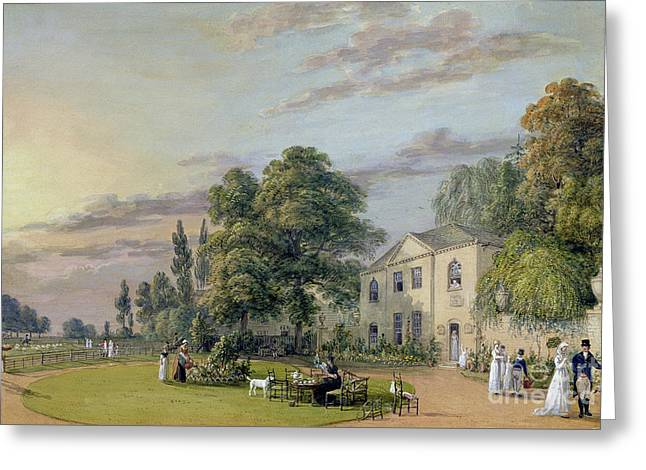 Tea At Englefield Green Greeting Card