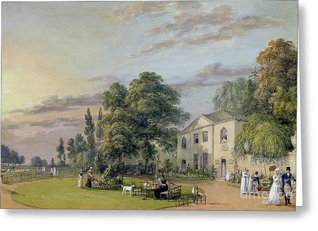 Tea At Englefield Green Greeting Card by Paul Sandby