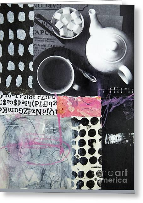 Tea At Garcon Greeting Card by Elena Nosyreva