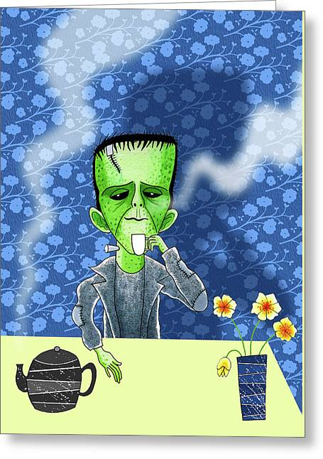 Tea Break  Greeting Card by Andrew Hitchen