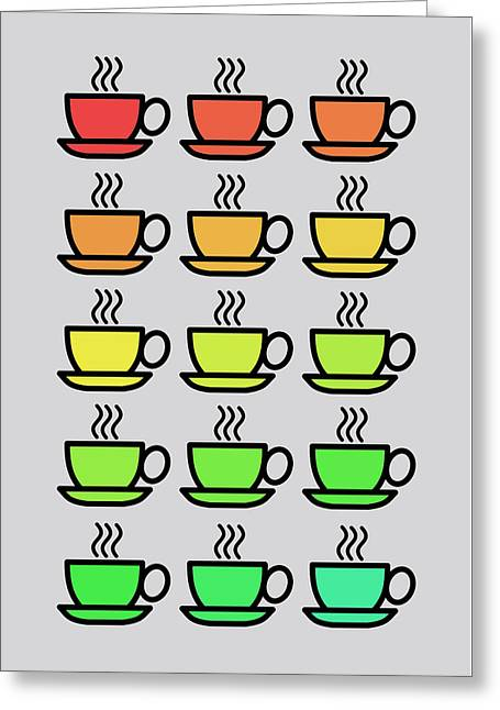 Tea Cups Greeting Card by Mark Rogan