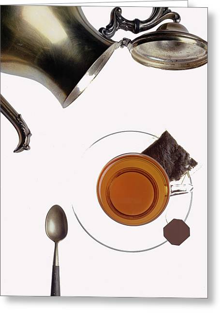 Tea For One Greeting Card by Steven Huszar