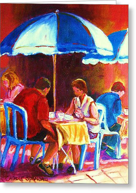 Tea For Two Greeting Card by Carole Spandau
