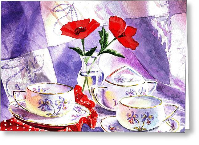 Tea For Two Vintage Style Greeting Card