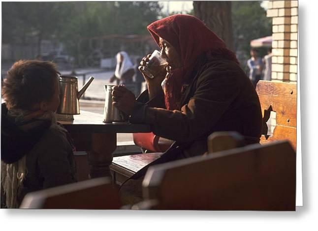 Tea In Tashkent Greeting Card