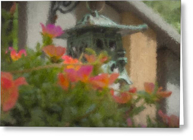 Tea Lantern And Portulaca Greeting Card