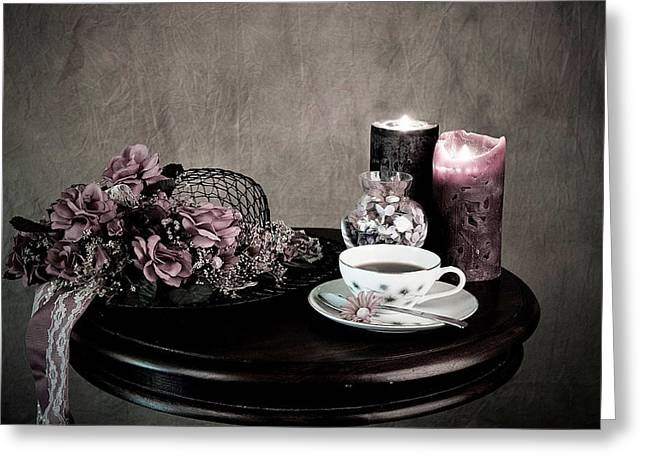 Tea Party Time Greeting Card by Sherry Hallemeier