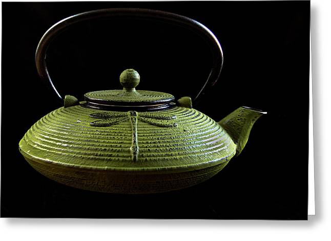 Tea Pot Greeting Card by Jean Noren