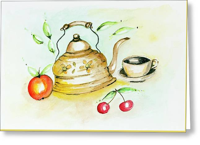 Tea Summer Ceremony Greeting Card by Aleksandr Volkov