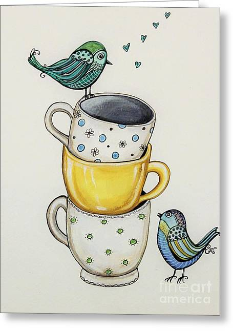 Tea Time Friends Greeting Card