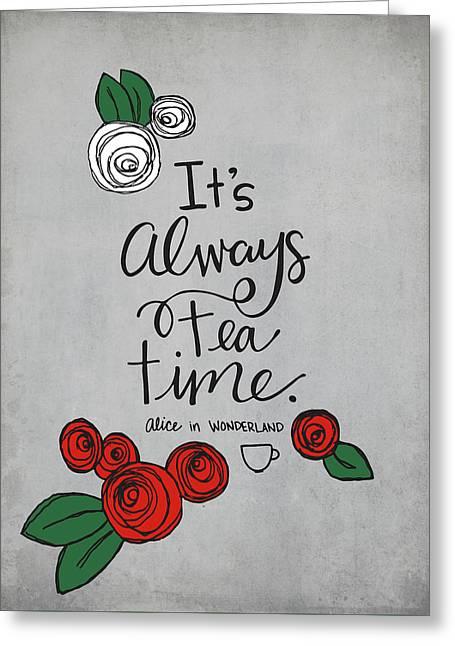 Tea Time Greeting Card