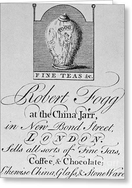 Tea Trade Card, C1770 Greeting Card