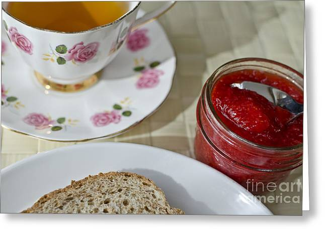 Tea With Bread And Jam  Greeting Card by Maria Janicki
