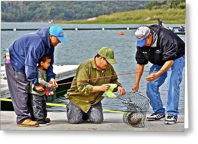 Teach Him To Fish Greeting Card