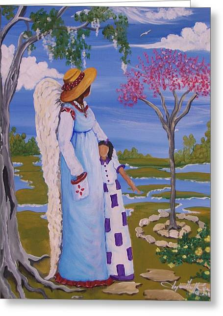 Teach Me II Greeting Card by Sonja Griffin Evans