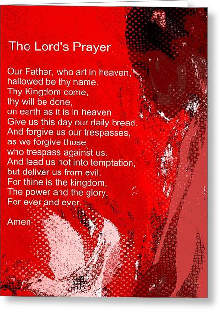 Teach Me How To Pray Greeting Card by Fania Simon