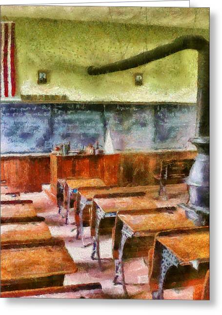 Teacher - Pay Attention In Class Greeting Card by Mike Savad