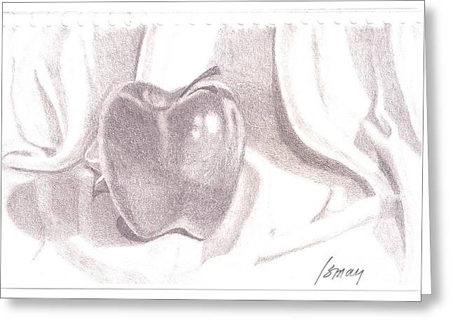 Greeting Card featuring the drawing Teacher's Pet by Rod Ismay