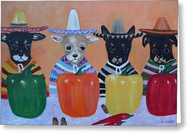 Teacup Chihuahuas In Mexico Greeting Card
