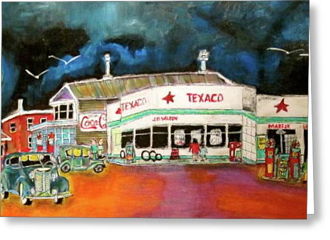 Teague Texaco 1940 Greeting Card by Michael Litvack