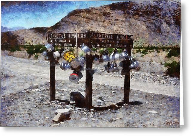 Teakettle Junction At Death Valley - Da Greeting Card by Leonardo Digenio