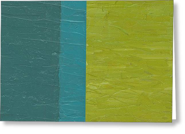 Teal And Olive  Greeting Card by Michelle Calkins