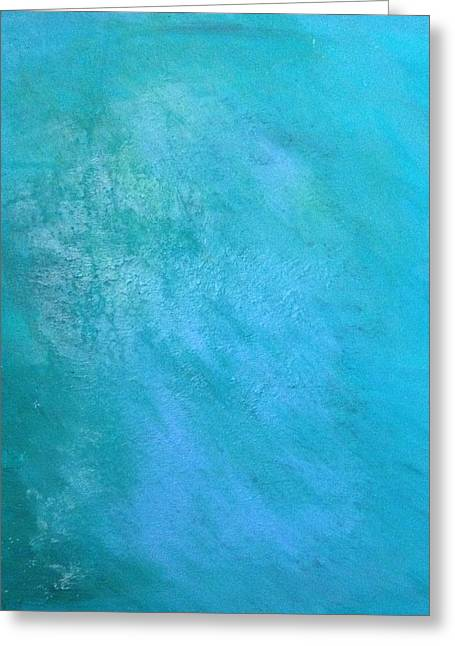 Greeting Card featuring the painting Teal by Antonio Romero