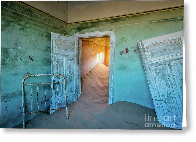Teal Room Greeting Card by Inge Johnsson