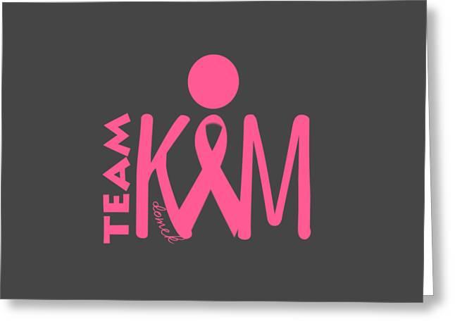 Team Kim Greeting Card by Ted Domek