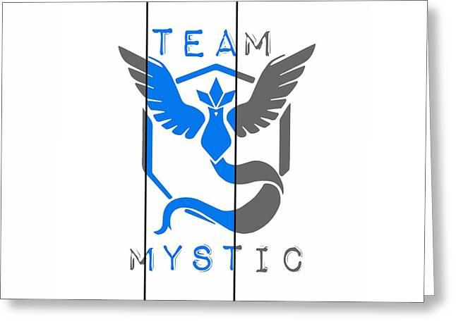 Team Mystic Greeting Card by Marianna Mills