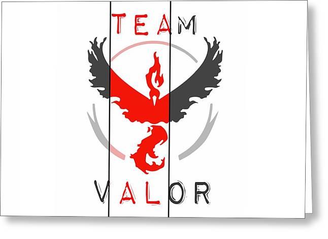 Team Valor Greeting Card by Marianna Mills