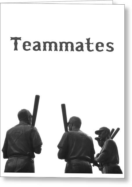 Teammates Poster - Boston Red Sox Greeting Card by Joann Vitali