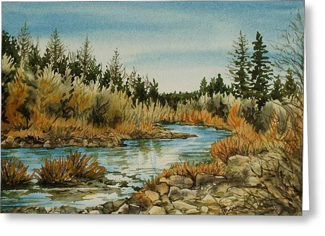 Teanoway River Wa Greeting Card