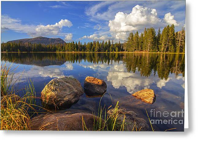 Teapot Lake Greeting Card by Spencer Baugh