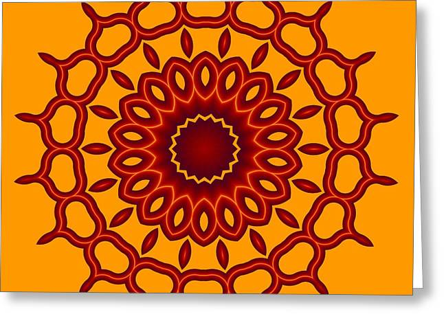 Teardrop Fractal Mandala Greeting Card
