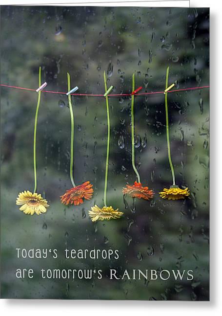 Teardrops Greeting Card