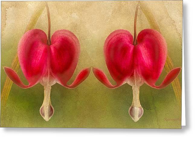 Teardrops Of The Heart Greeting Card by Georgiana Romanovna