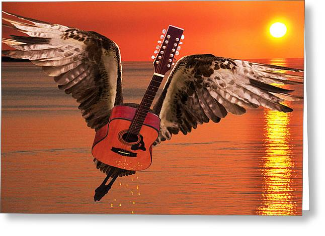 Teardrops On My Guitar Rocks Greeting Card by Eric Kempson