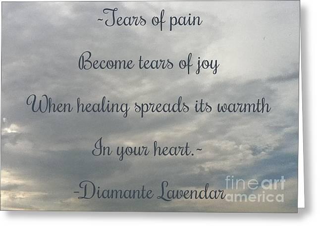 Tears Greeting Card