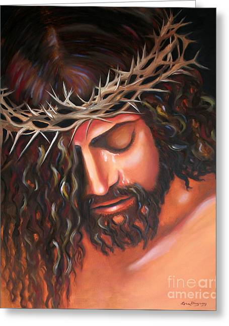 Tears From The Crown Of Thorns Greeting Card