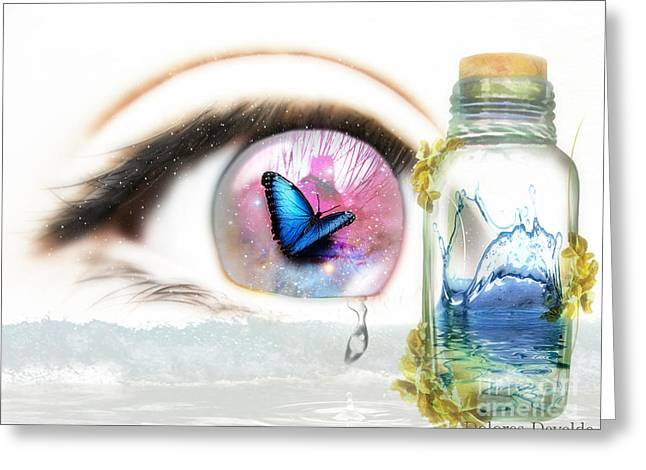 Tears In A Bottle Greeting Card by Dolores Develde