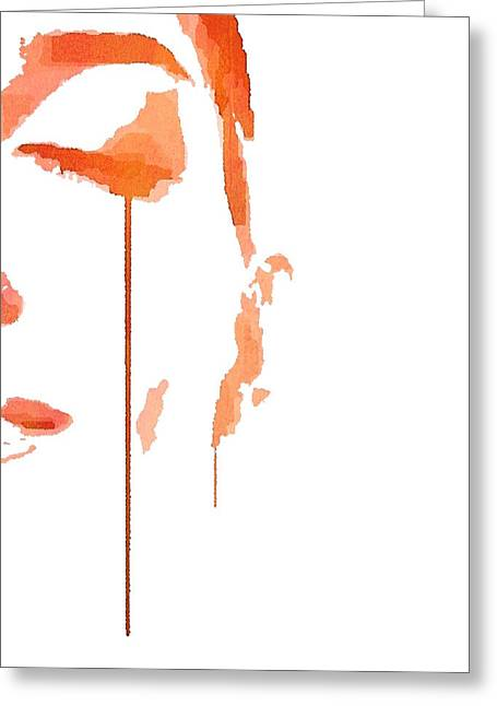 Tears Of Pain Greeting Card by ISAW Gallery