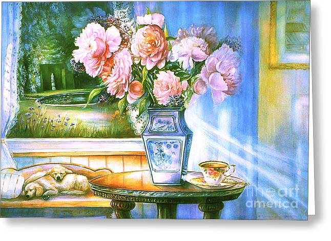 Teatime And Dreams Greeting Card