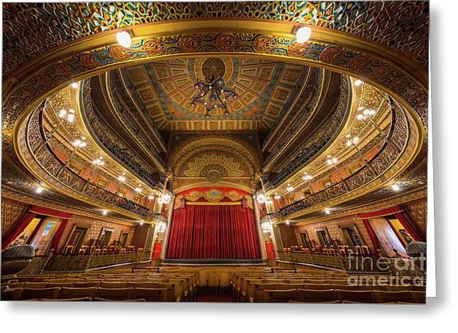 Teatro Juarez Stage Greeting Card