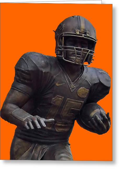Tebow Transparent For Customization Greeting Card by D Hackett
