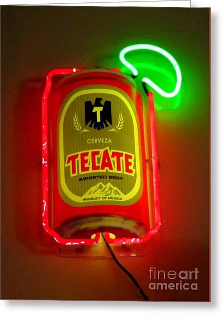 Tecate Greeting Card by John Malone