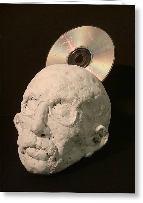 Head Sculptures Greeting Cards - Tech-head Greeting Card by Gary Kaemmer