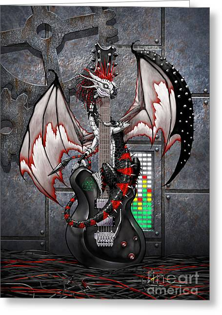Tech-n-dustrial Music Dragon Greeting Card